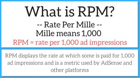 adsense impression rpm what is rpm definition of rpm for online publishers
