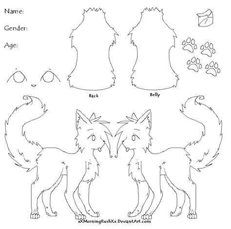 female wolf fursona template www imgkid com the image