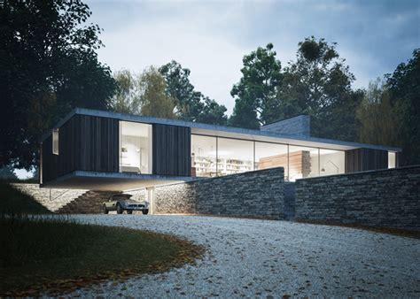 Modern Garage Design une maison design d architecte plain pied en angleterre