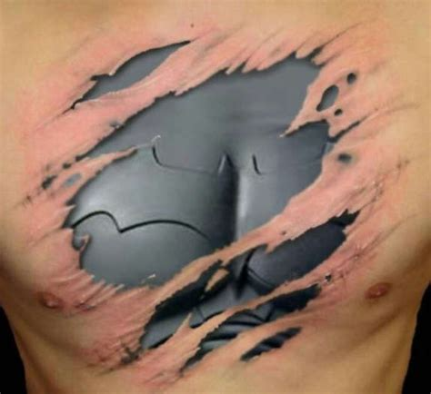 batman chest tattoo 24 coolest batman tattoos designs