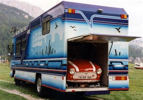 Awesome Car Garages by 8 Awesome Car Carrying Motorhomes You Must See Rvshare Com