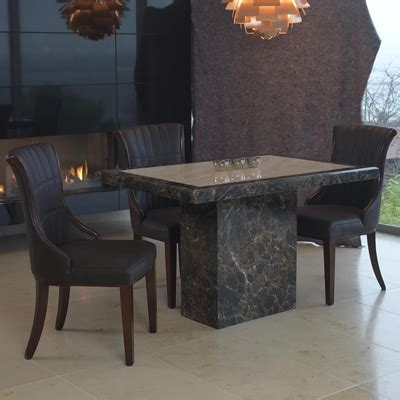 Small Marble Dining Table Ravena Marble Small 4 Seater Dining Set Robson Furniture