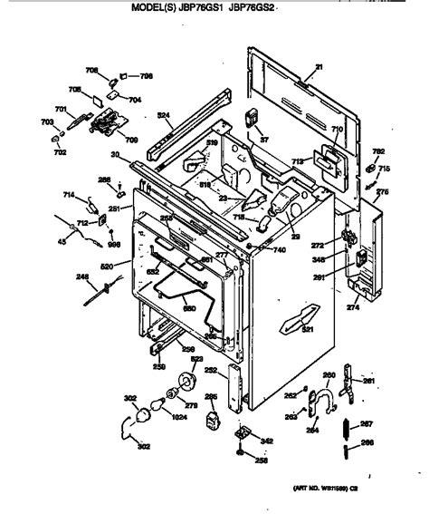 ge range parts diagram general electric jbp76gs2ww electric range timer stove