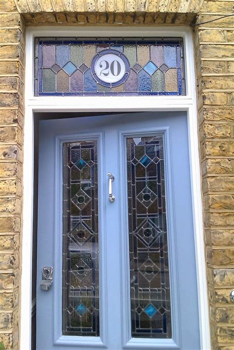 glass front door numbers 17 best ideas about stained glass door on