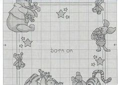 Winnie The Pooh Cross Stitch Birth Record Woodland Baby Birth Sler Cross Stitch 2431 Dw