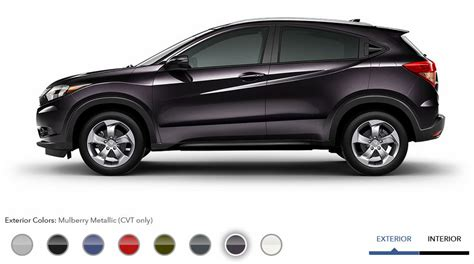 Hrv S Manual 2015 Silver 2016 honda hr v exterior color options mulberry metallic