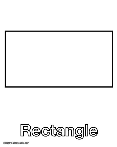 free coloring pages of shape rectangle