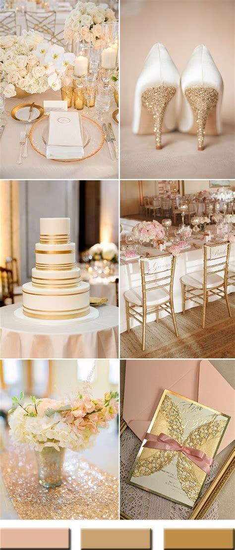 2017 the Best Gold Wedding Colors Combos Trends   Someday
