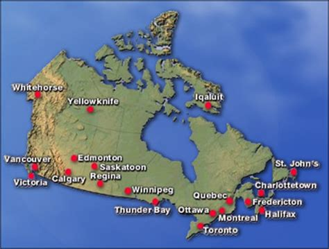 map of major canadian cities map of canada with major cities driverlayer search engine