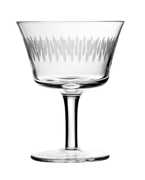Cocktail Glassware Retro Fizz Engraved Cocktail Glass 20cl Bar