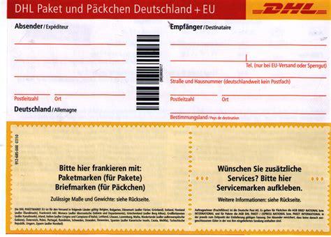 Paketaufkleber Drucken Dhl by Kann Ich Mit Diesen Dhl Zettel Nach Austria Ein Paket