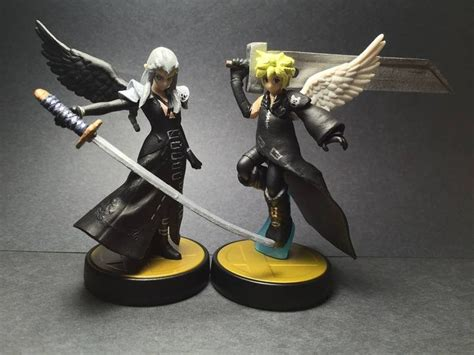 Amiibo Cloud Vii Smash Bros Series and pit cistom amiibos by compulsif ffvii sephiroth cloud fan stuff