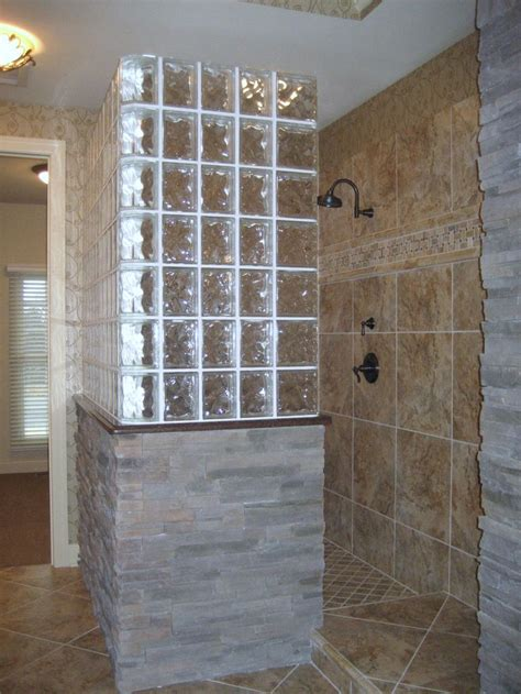 glass block bathroom wall 25 best ideas about glass block shower on pinterest