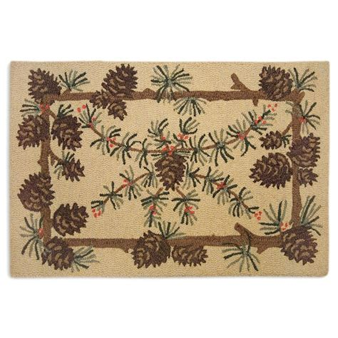 scatter rug needles and cones pine cone scatter rug