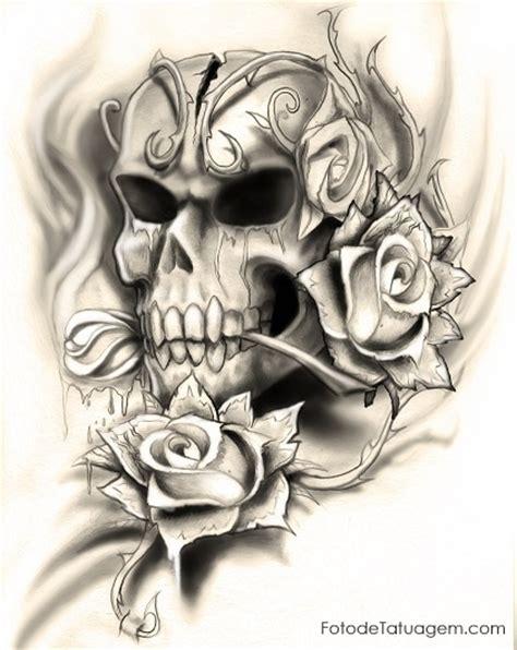 desenhos para tatuagem de caveira foto de tatuagem