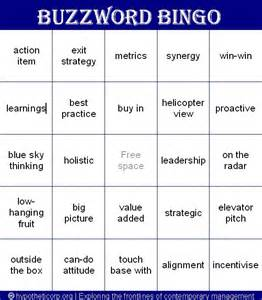 buzzword bingo play this game at your next meetingthe