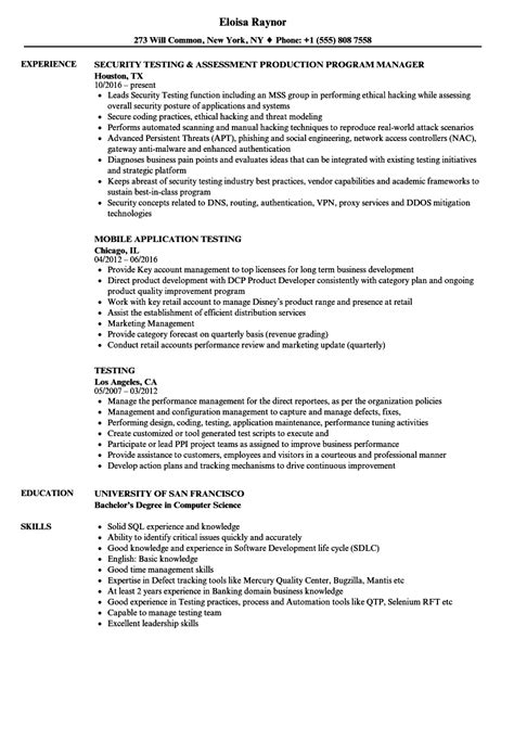 colorful qtp automation testing resume sles gift