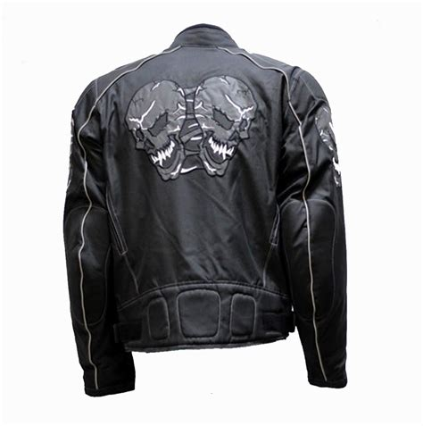 motorcycle gear online reflective skull motorcycle nylon jacket bikers gear