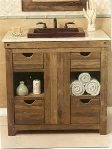 Rustic Bathroom Vanity Cabinets - dazzling unique rustic bathroom vanities with wood plank cabinets for storing white cotton