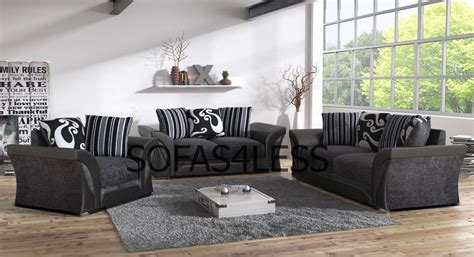 grey and black couch farrow leather fabric 32 seater sofa footstool armchair