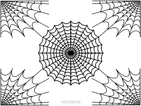 spider webs corner colouring pages