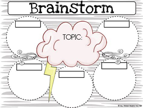 Brainstorm Template one degree category math