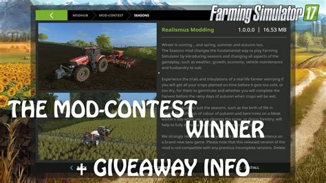 Ps4 Giveaway 2017 - mod contest winner seasons in farming simulator 2017 giveaway info pc ps4