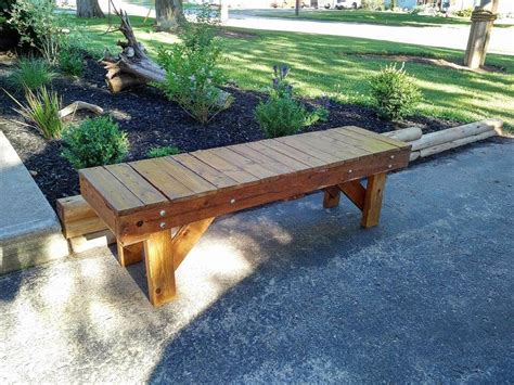 outdoor pallet bench turn old pallet into outdoor bench 101 pallets
