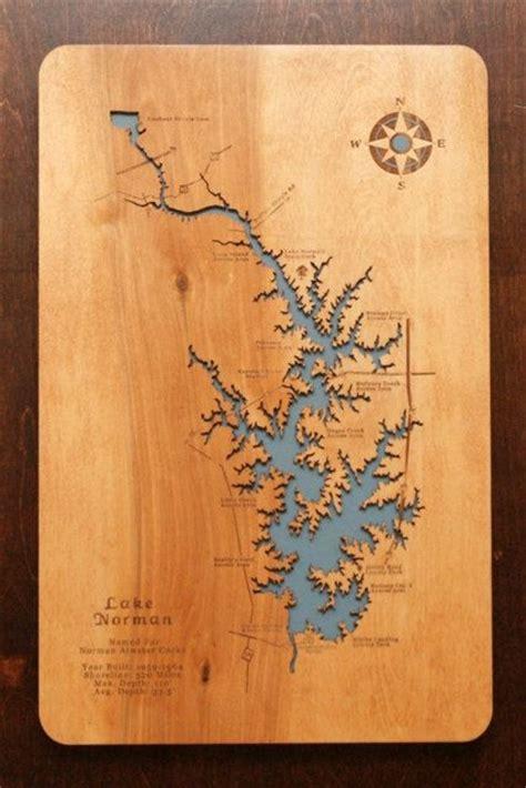 lake norman north carolina wooden laser engraved lake map
