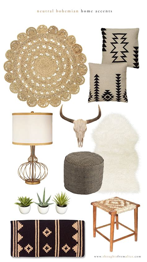 home decor and accents neutral bohemian home accents