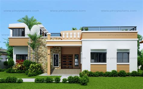 Modern Bungalow Floor Plans by Rey Four Bedroom One Storey With Roof Deck Shd 2015021