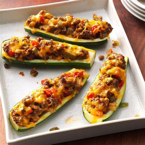 baked zucchini boat recipes zucchini boats recipe taste of home