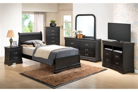 bedroom sets dawson black twin size platform look