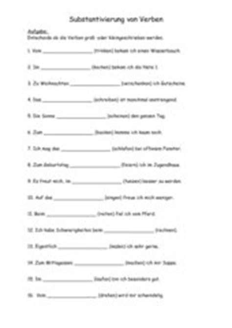 wann werden verben groß geschrieben 4teachers lehrproben unterrichtsentw 252 rfe und