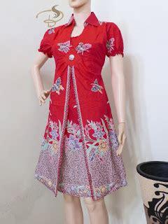 Dress Batik Cantik Qinta Padi dress batik wanita modern model baju terbaru