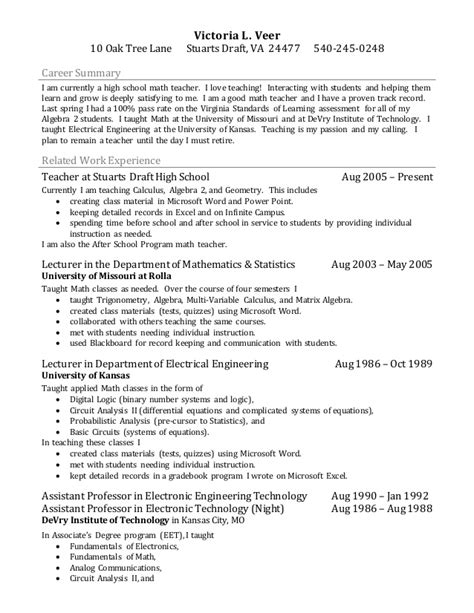 Resume Bullet Points For Teaching Assistant Resume Bullets