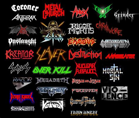 best thrash metal bands heavy metal band logos joy studio design gallery best