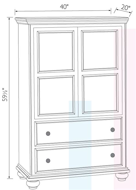 Armoire Dimensions antoinette armoire ohio hardwood furniture