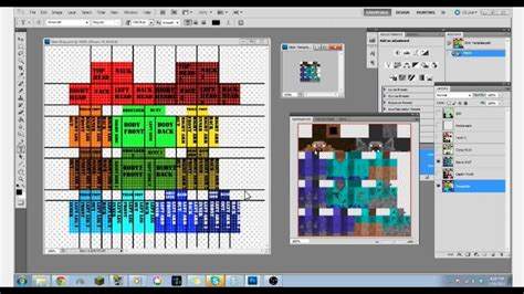minecraft 1 8 template 1 8 minecraft skin template map