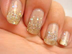 all nail and cosmetics gold and silver glitter gradient