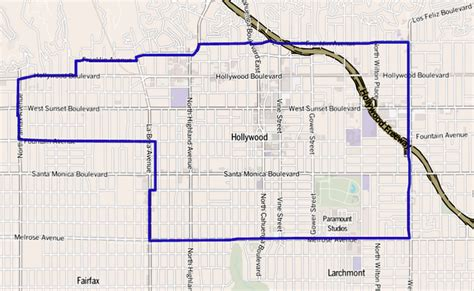 hollywood celebrities map file map of hollywood district los angeles california