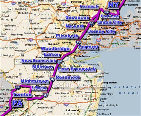 i 95 map nj traffic map my