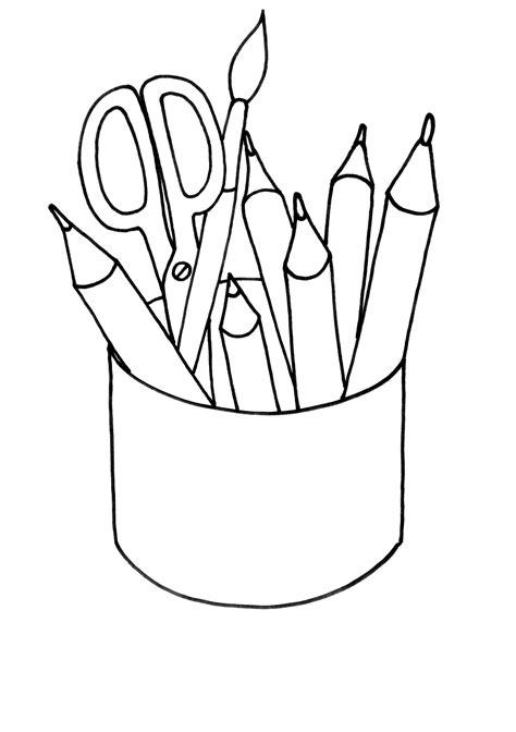imagenes seguridad escolar para colorear dibujo colorear 18 pencils dibujo de imagenes para imprimir