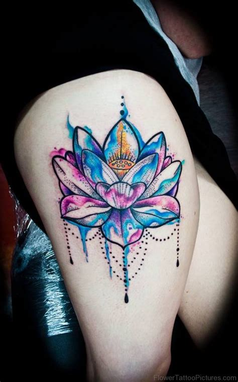 lotus flower thigh tattoo 45 fantastic lotus tattoos on thigh
