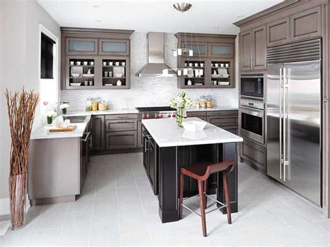 gray and brown kitchen model the lavish