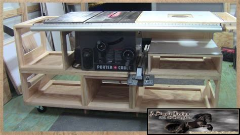 building  tablesaw base part  youtube