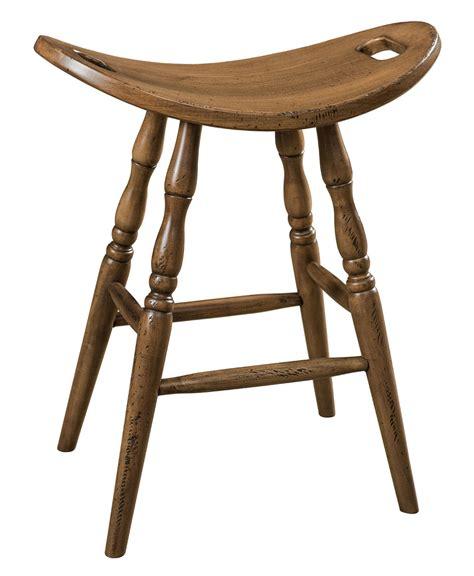 Distressed Saddle Bar Stools by Saddle Bar Stool Amish Direct Furniture