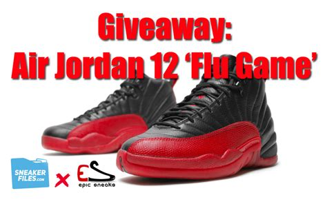 Jordan Giveaway - giveaway air jordan 12 flu game sneakerfiles