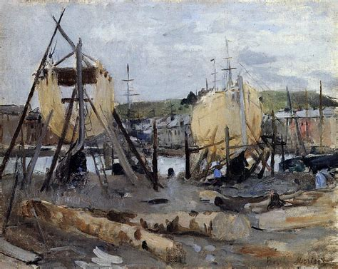 Berthe Morisot In The Dining Room Boats Under Construction 1874 Berthe Morisot Wikiart Org