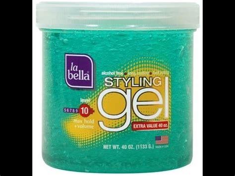 styling gel use braid out using la bella styling gel youtube